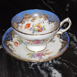 Hammersley China Tea Cup & Saucer, ca 1940s